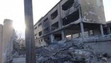 Damaged hospital in Derna